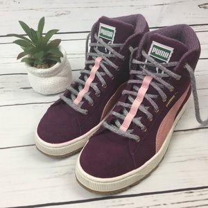 Puma Suede High Top Sneakers, Size 7